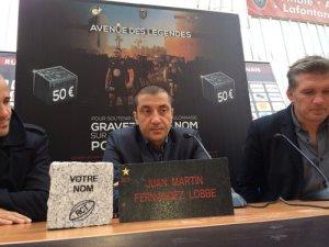 Mourad Boudjellal présentant l'avenue des légendes